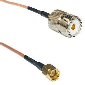 RG316 SO239 UHF Female to SMA MALE Coax RF Cable USA-Ship