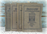 vtg antique fine art magazines monographs lithographs lot of 4 Rembrandt & more