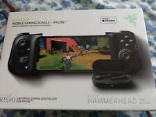 Razer Kishi Controller for iPhone,Hammerhead Bluetooth Earbuds Gaming Bundle