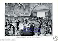Tanzturnier Leipzig XL Kunstdruck 1926 Blau Gold Club Centraltheater tanzen  +