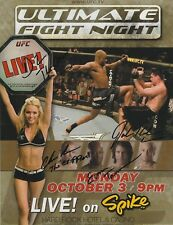 Evan Tanner Josh Koscheck +2 Signed UFC Ultimate Fight Night 2 8.5x11 Poster '05