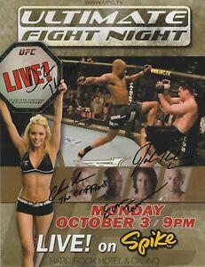 Evan Tanner Josh Koscheck +2 Signed UFC Ultimate Fight Night 2 8.5x11 Poster '05