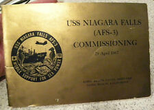 1967 USS Niagara Falls Navy Ship Commissioning,Long Beach Naval Shipyard Booklet