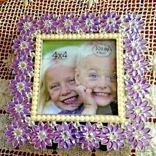 Green Tree Gallery Amethyst & Pearl Silver Photo Frame 4 X 4