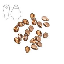 PRECIOSA Pip ™ VETRO Seme Perline 5x7mm Cristallo Oro Capri-Confezione da 20 (m27/2)