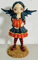 Jasmine Becket Griffith Pumpkin Pixie Hand Painted Resin Fairy Halloween Figurin