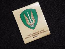 Original 1970s Era Canadian Army Special Service Force Matchbook
