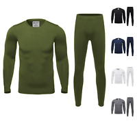 Mens High Quality Ultra-Soft Thermal Top / Bottom / Set with Fleece Lining