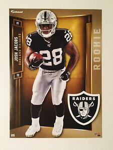"Josh Jacobs (Rookie) Oakland Raiders NFL Fathead Tradeables ""5X7"" w/ Logo"