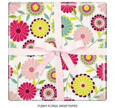 Funky Floral gift wrapping paper Mother's day 1 sheet 50cm x 70cm RP025