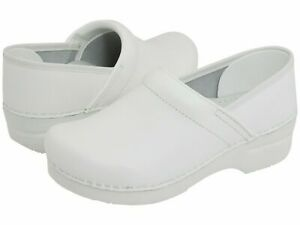 Dansko Leather Slip On Closed Back Clog Shoes Professional White Box sz 9.5 - 10