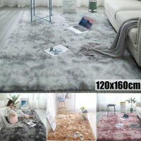Warm Large Plush Floor Carpet Fluffy Area Rug Pad Mat Shaggy Bedroom Living Room