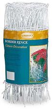 White Round-Top Garden Fence, 14-In. x 20-Ft.