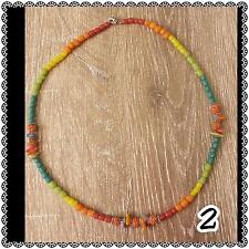 shell & rudrasksha natural seed surf boho necklace 2C