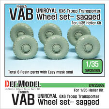 DEF. MODEL, French VAB 6X6 Troop Transporter Sagged Wheel set, DW35069, 1:35