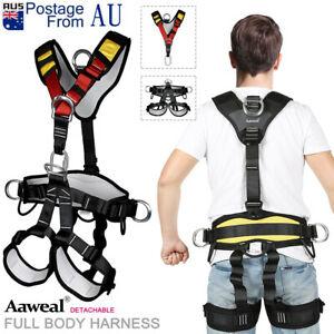 Pro Tree Carving Rock Climbing Safety Belt Harness Seat Rappelling Full/half