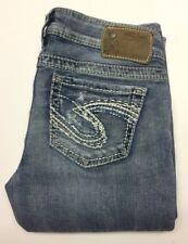 """Silver Jeans """"Frances 17"""" Women's Jeans W25/L33,,,2% spandex , cute!"""