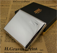 High-grade cigarette case iron clamp 20 senior stainless steel cigarette case