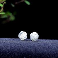 A03 Ohrstecker Sterling Silber 925 Blüte aus Perlmutt
