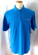 COLUMBIA OMNI-WICK ELM CREEK POLO**MENS SMALL**BRIGHT BLUE**SPECIAL SALE PRICE