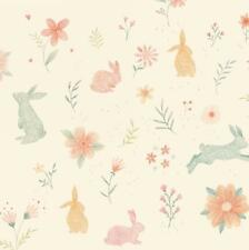 BUNNY TALES RABBITS BUNNIES CREAM STUDIO E COTTON QUILT FABRIC