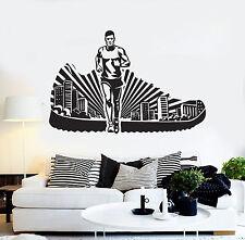 Vinyl Wall Decal Running Sport Runner Run Stickers Mural (ig4279)