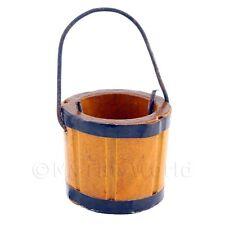 Miniatura Para Casa De Muñecas pequeños de madera cubo con mango metálico