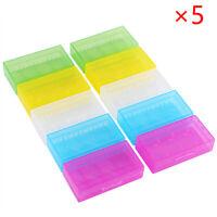 5Pcs 18650 CR123A 16340 Hard Plastic Transparent Battery Box Case Holder E3P2