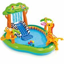 "INTEX Jungle Play Center Inflatable Kid Swimming Pool + Sprayer  85"" X 74"" X 49"""