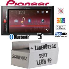 PIONEER AUTORADIO PER SEAT LEON 1p Nero Bluetooth 2din mp3 USB kit installazione auto