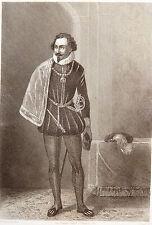Gravure Etching Incisione P. Féval Le Fils Du Diable DELAROCHE, Jules ROZE