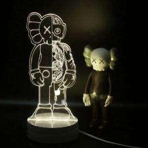 Kaws Figure Bearbrick Flayed Open 3D Visual Lamp