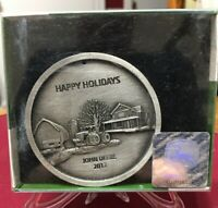 2012 John Deere Christmas Holiday Ornament by SpecCast - Pewter - NEW