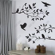 WORLDWIDE BLACK BIRD TREE BRANCH WALL STICKERS ART REMOVABLE HOME OFFICE DECOR
