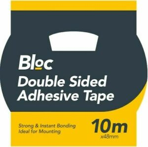 10M x 48mm Double Sided Carpet Tape Strong Adhesive Vinyl Wood Tape Floor