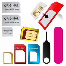 SIM Card Adapter Kit for All Mobile Phones 6 in 1 Pack Nano Micro Standard UK