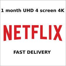 NETFLX 4K UHD 1 MONTH 4 SCREEN