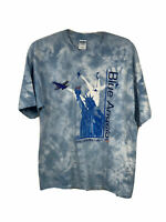 Navy Blue Angels Size XL Blue T Shirt Tie Dye United States Airplanes