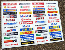 SLOT CAR SCALEXTRIC 1/32nd Barrier stickers decals x52