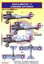 KORA Decals 1/72 NAKAJIMA Ko-4 Fighter Kwangsi Air Force