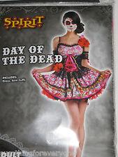 Costumes for Women Girls Cosplay Halloween Sexy Dress Up Sugar Skulls Adult