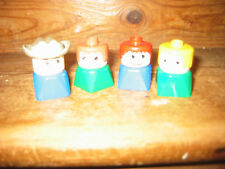 DUPLO LEGO VINTAGE COLLECTIBLE DIFFERENT PLAY FIGURES STANDING X 4 COWBOY RARE