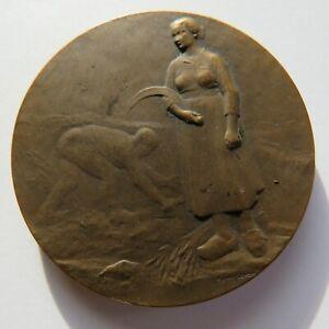 MEDAILLE BRONZE LENOIR RARE FRENCH MEDAL ART NOUVEAU AGRICULTURE 1909