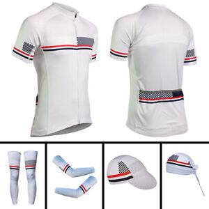 2021 Mens Cycling Jerseys Short Sleeve Bike Caps Bandana arm Sleeves Leg Warmers