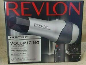 NEW Revlon Perfect Heat Volumizing Hair Dryer Turbo Styler Ionic Ceramic Coating