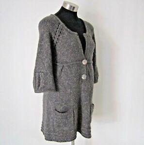 Sportsgirl Wool Blend Grey Jumper Tunic Knit Size S-M