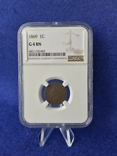 """1869  INDIAN HEAD CENT 1c PENNY """"TOUGHER DATE SEMI-KEY"""" *NGC G04 GOOD*"""