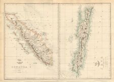 1863  LARGE ANTIQUE MAP - DISPATCH ATLAS- SUMATRA AND JAVA
