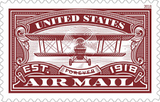 #5282 2018 Air Mail (Red)  Single - MNH