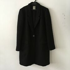 ZARA Black Wool Straight Masculine Winter Coat XL